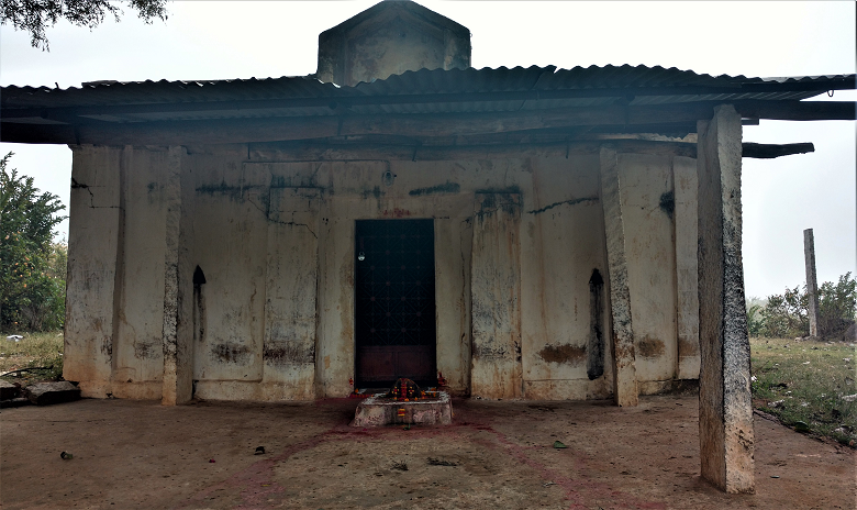 A simple village temple on the Nandi Trek