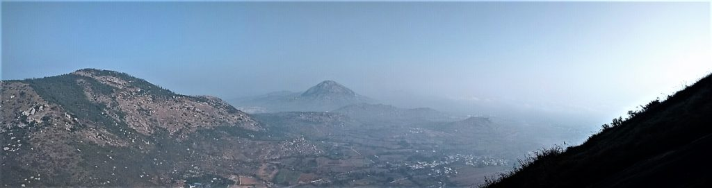 A panoramic view from Nandi Hills