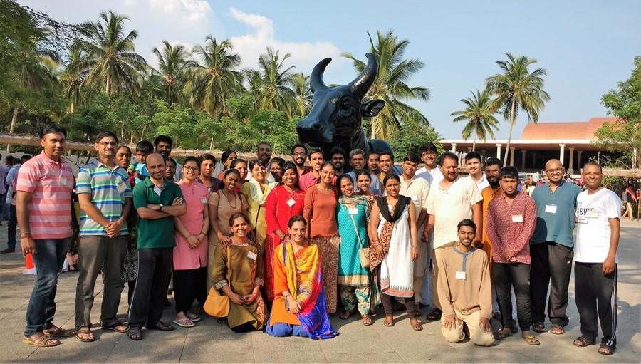 Group photo @ Nandi_Isha Yoga Center
