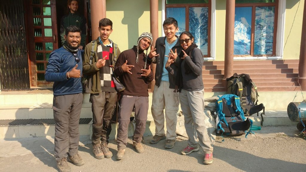 At Sankri, after finishing our trek