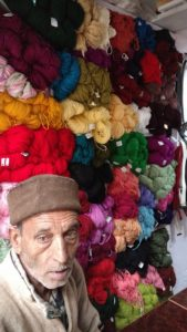 A local woolen shop at Purola