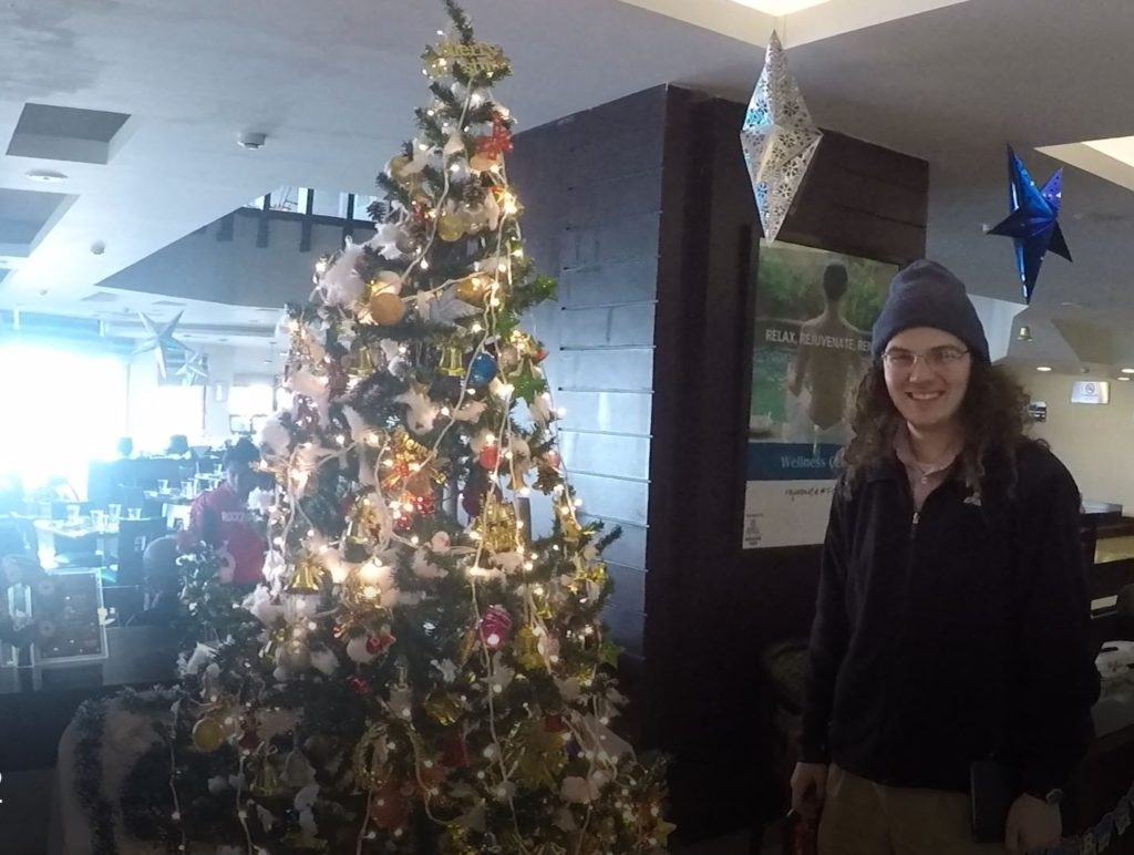 Will and Xmas Tree @ Hotel Fortune Grace Lobby