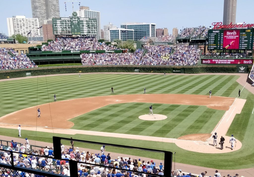 Chicago_Cubs Game@Wrigley Field Stadium